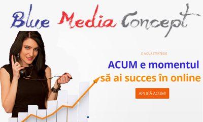 Blue Media Concept